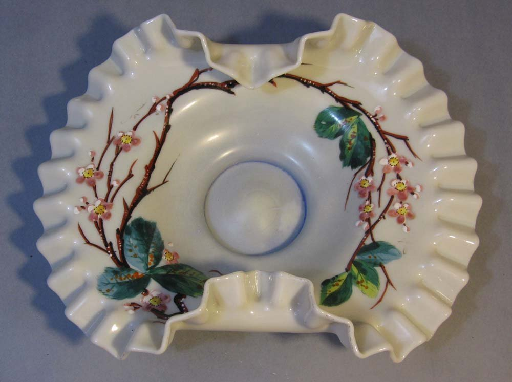 Mt. Washington Glass Enameled Bride Bowl