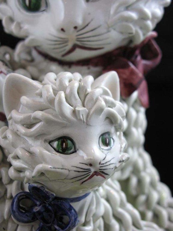 Vintage Italian Ceramic Spaghetti Cat Sculpture - 4