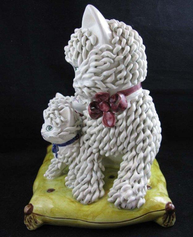 Vintage Italian Ceramic Spaghetti Cat Sculpture - 5