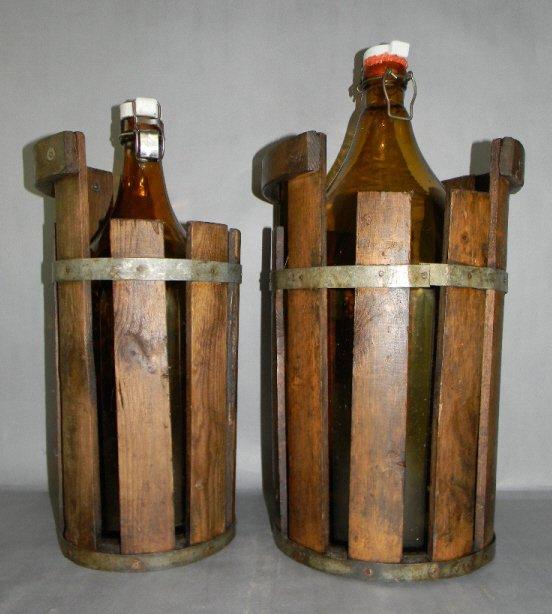2 VINTAGE NORWEGIAN BREWERY BOTTLES & WOOD CASKS