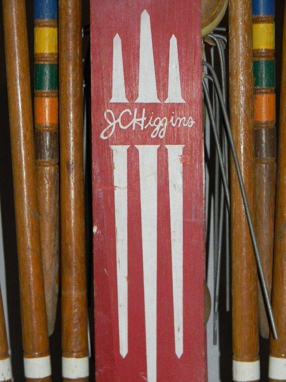 MID-CENTURY J. C. HIGGINS CROQUET SET & STAND - 9