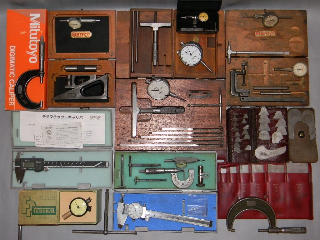 VINTAGE MACHINIST TOOLS: STARRETT, LUFKIN, FEDERAL