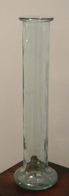 """TALL MID-CENTURY ITALIAN GLASS VASE 22.5""""h"""