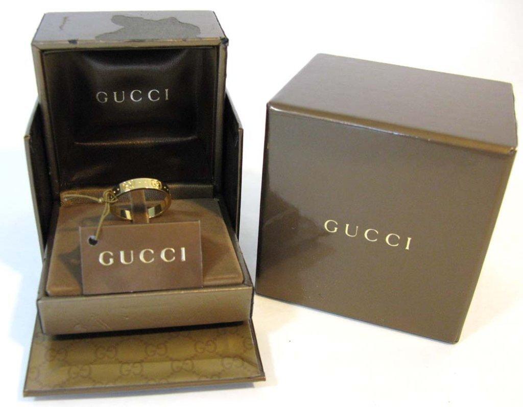 GUCCI ICON 18k YELLOW GOLD SIGNATURE ICON RING