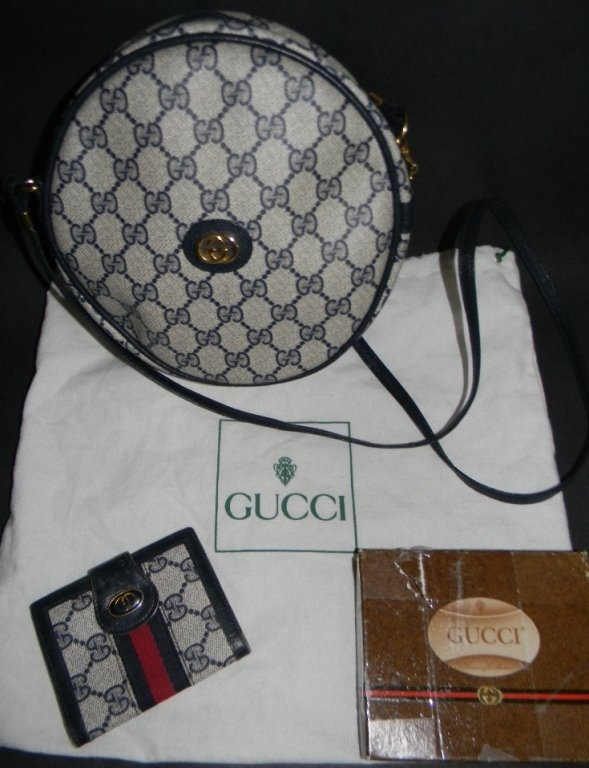 1988 GUCCI CANTEEN PURSE AND WALLET