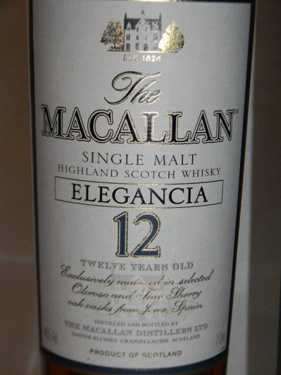 MACALLAN ELEGANCIA 12 YEAR SCOTCH WHISKEY - 3