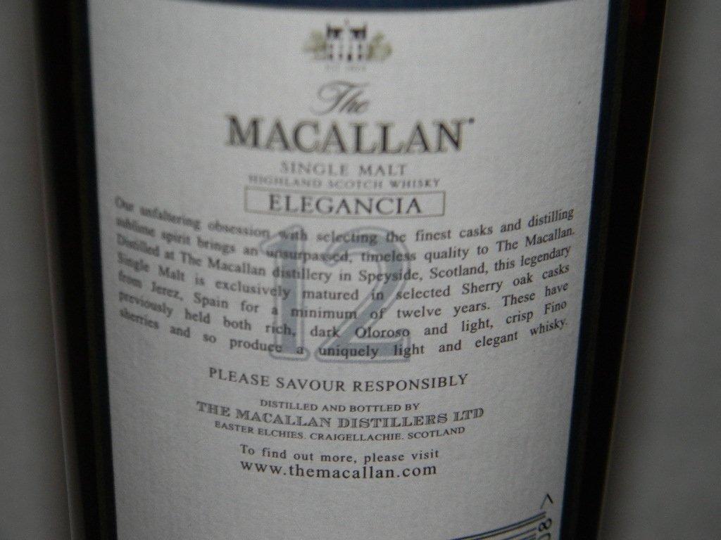 MACALLAN ELEGANCIA 12 YEAR SCOTCH WHISKEY - 5