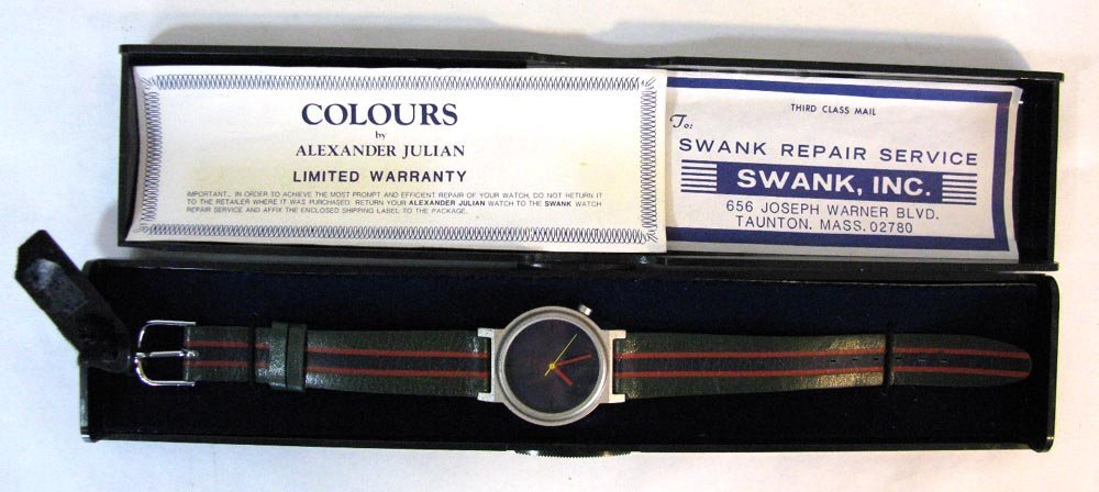 COLOURS ALEXANDER JULIAN WATCH c. 1985 - 4
