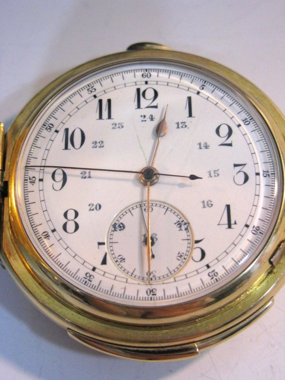 LECOULTRE REPEATER POCKET WATCH 18K GOLD CASE