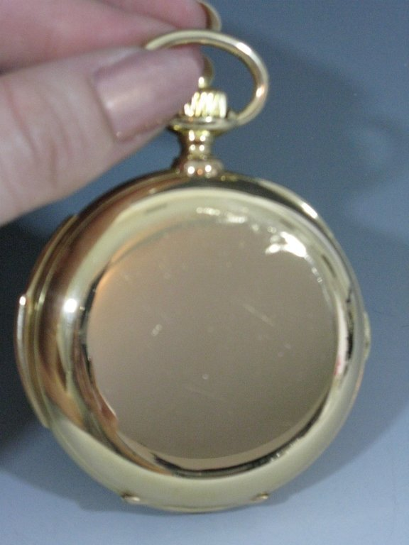 LECOULTRE REPEATER POCKET WATCH 18K GOLD CASE - 2