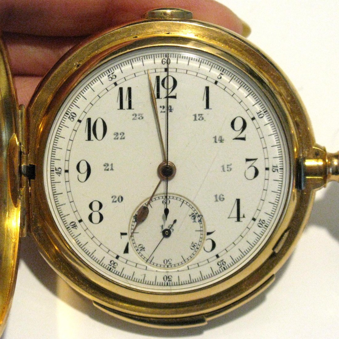 LECOULTRE REPEATER POCKET WATCH 18K GOLD CASE - 8