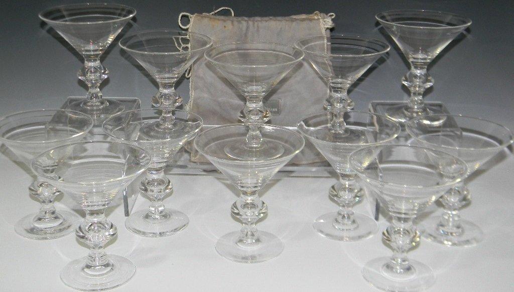 STEUBEN GLASS TRUMPET SHAPED CHAMPAGNE 7737
