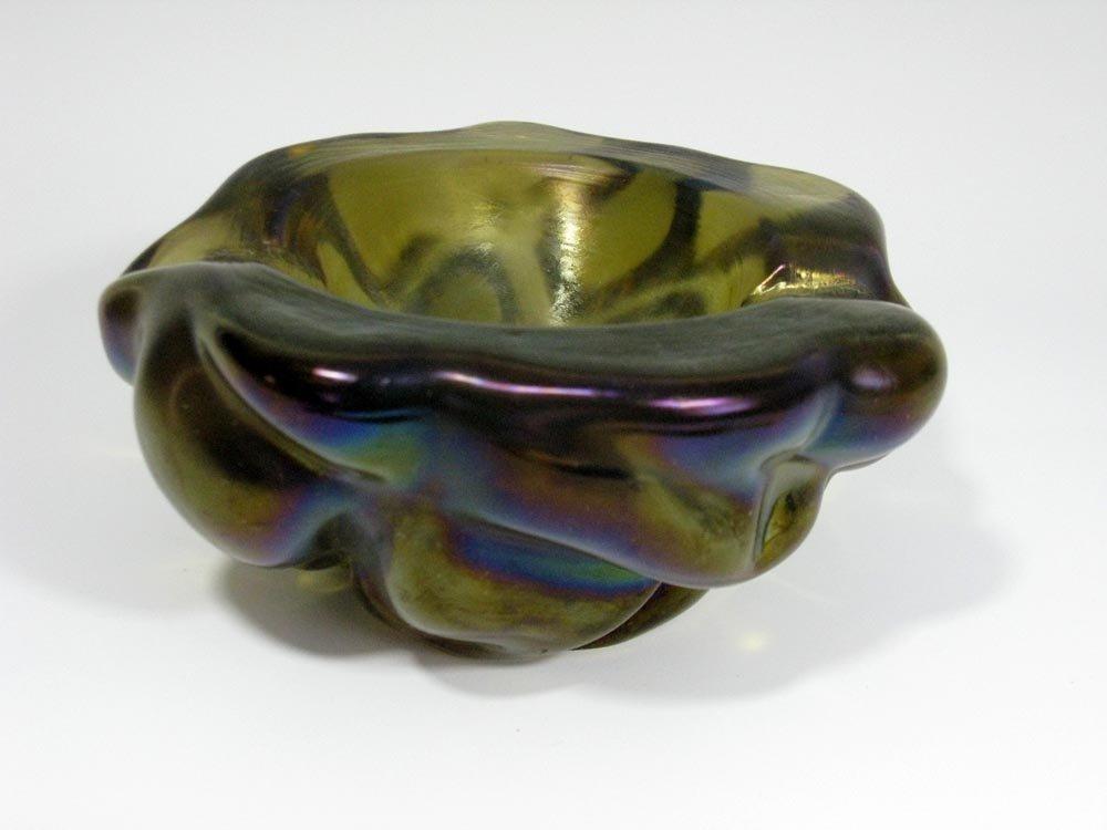 SEGUSO IRIDATO ART GLASS BOWL / CIGAR ASH TRAY