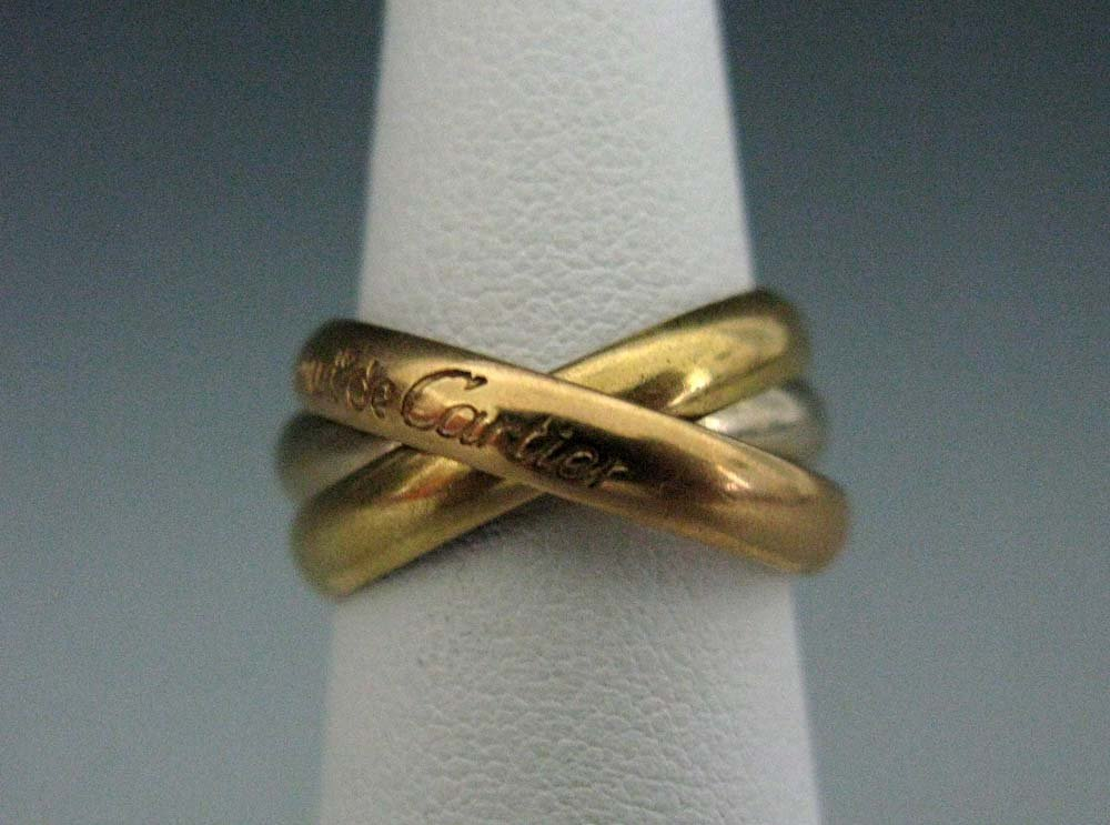 CARTIER 18K TRI-COLOR GOLD RING TRINITY SERIES