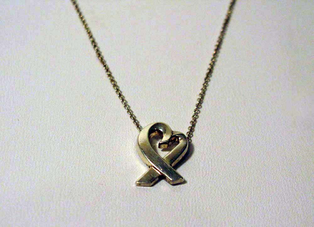 PALOMA PICASSO STERLING HEART PENDANT FOR TIFFANY