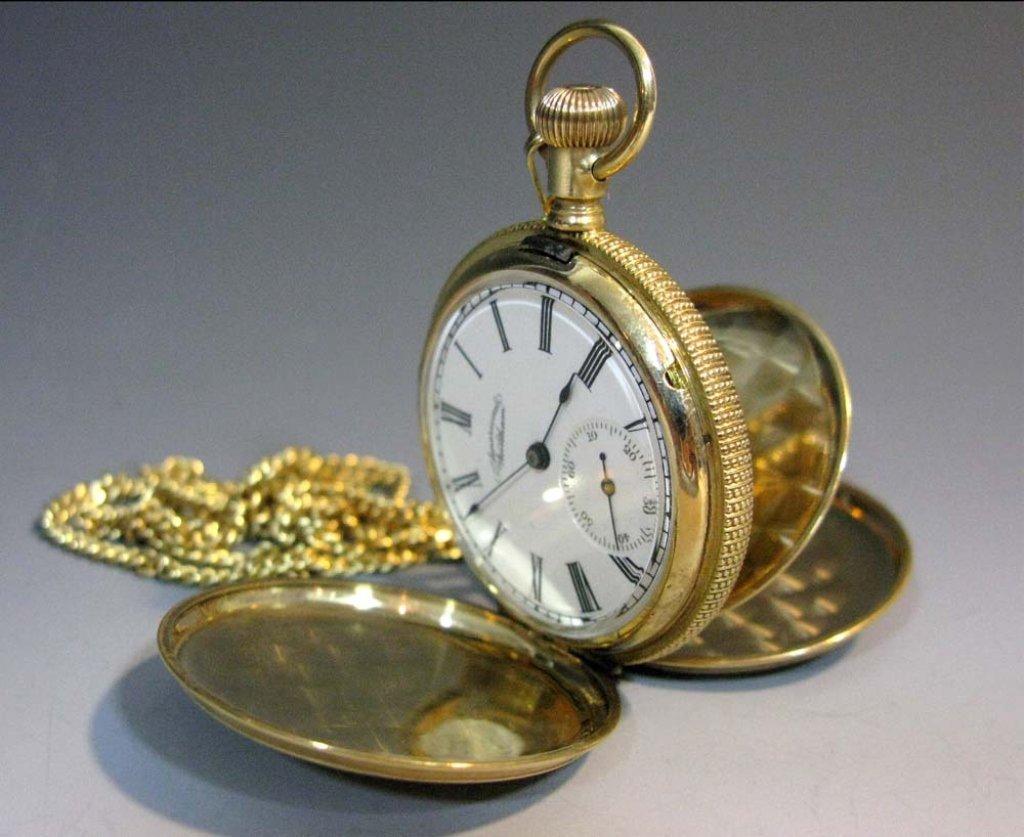 AMERICAN WALTHAM POCKET WATCH IN 14 GOLD CASE