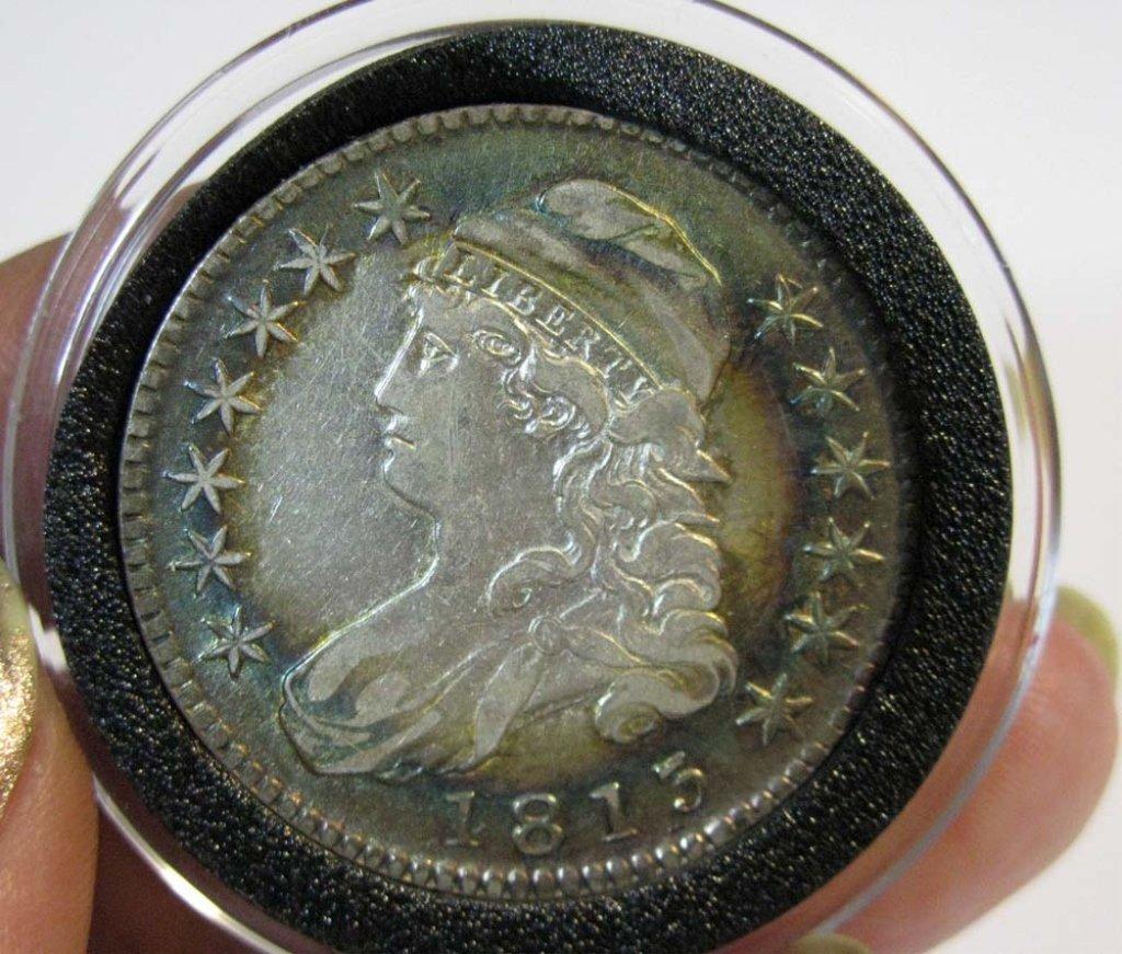 1813 CAPPED BUST HALF DOLLAR AU58 - MS60
