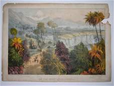 CURRIER  IVES LITHO COAST OF CALIFORNIA