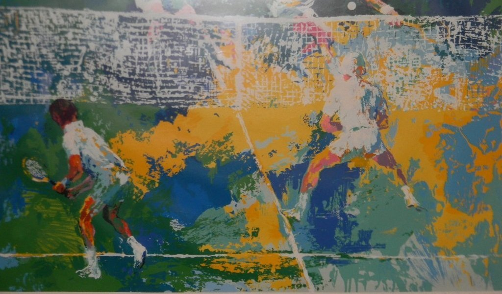 LEROY NEIMAN DOUBLES TENNIS HAND SIGNED SERIGRAPH