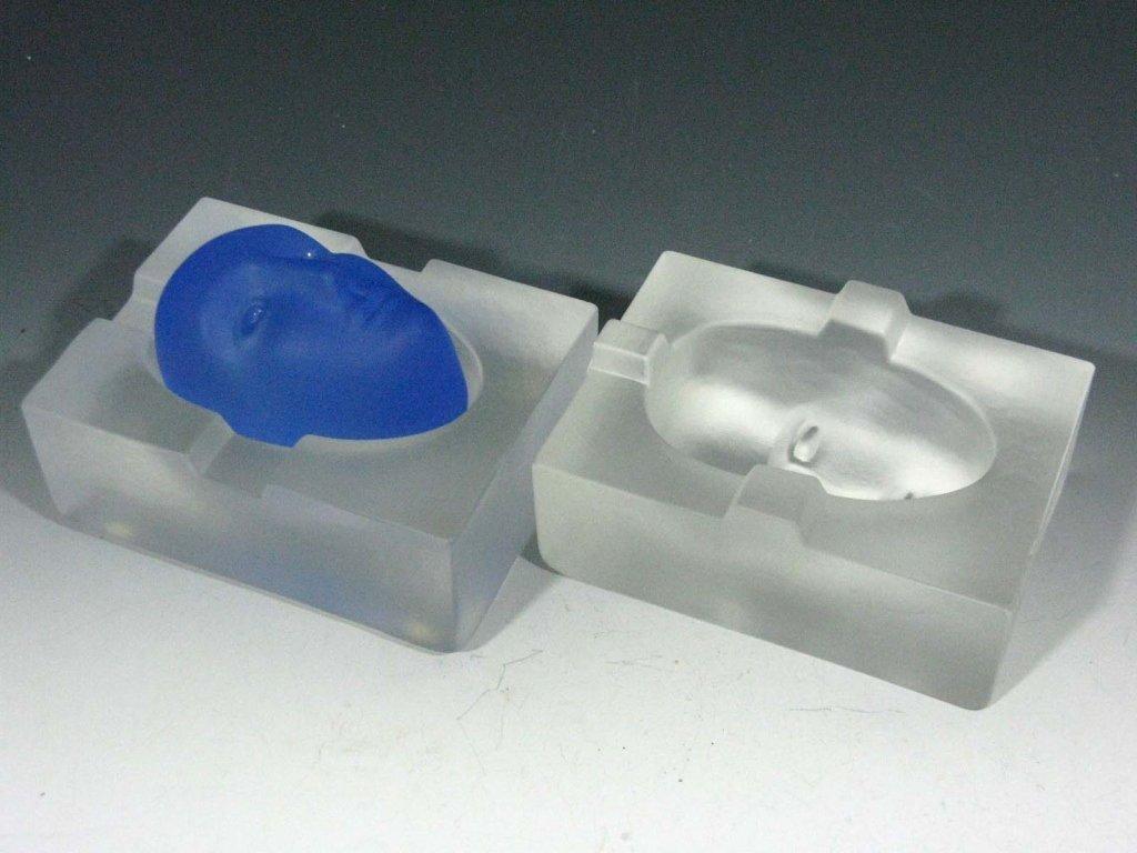 BERTIL VALLIEN GLASS BLUE BRAIN FOR KOSTA BODA