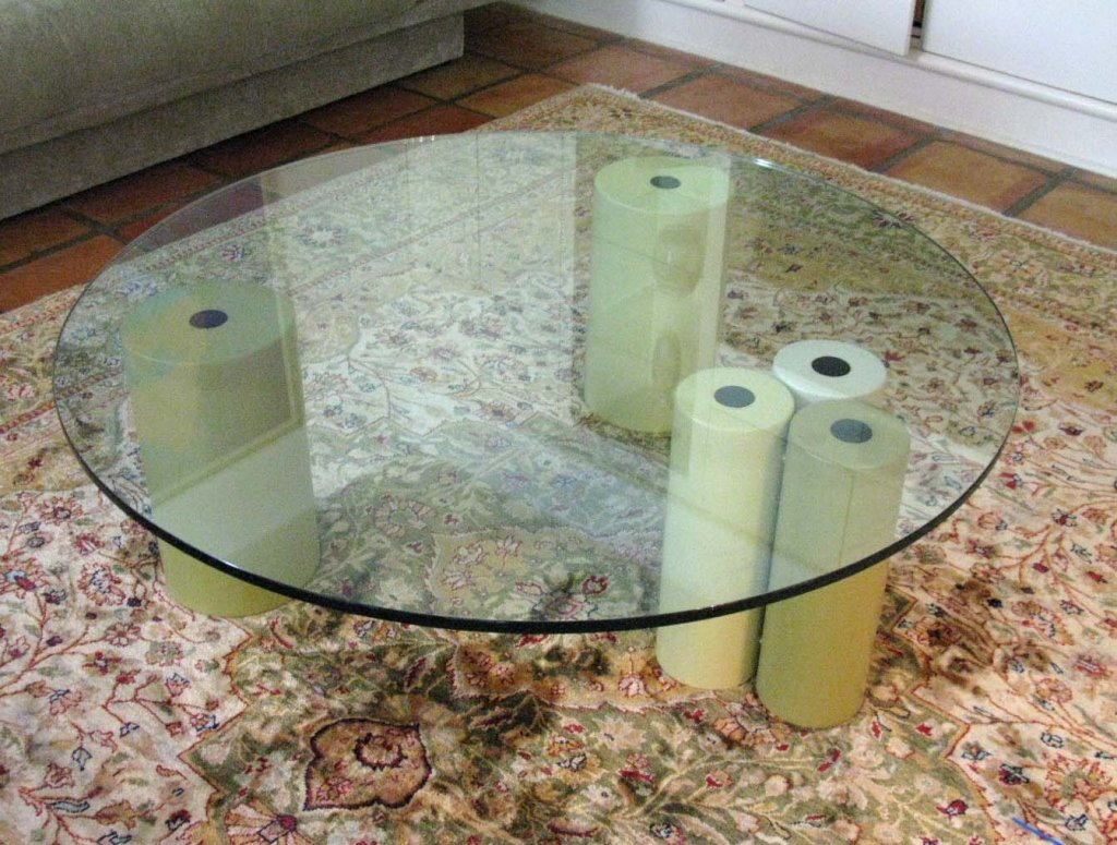 SAPORITI GLASS TOPPED LOW OR COFFEE TABLE