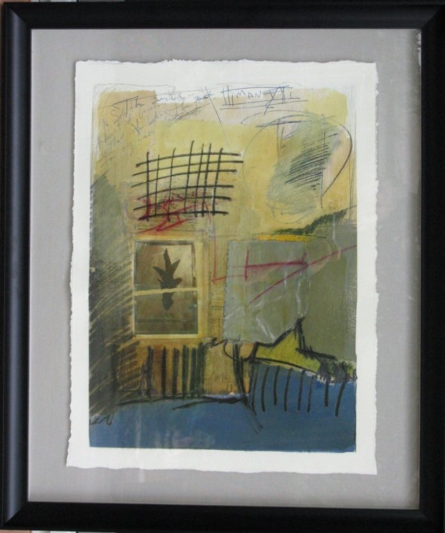 T. L. LANGE MIXED MEDIA & COLLAGE ABSTRACT