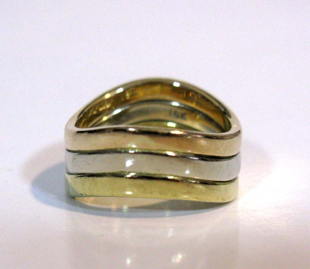 3 @ DINH VAN FOR CARTIER 18K GOLD STACKING RINGS