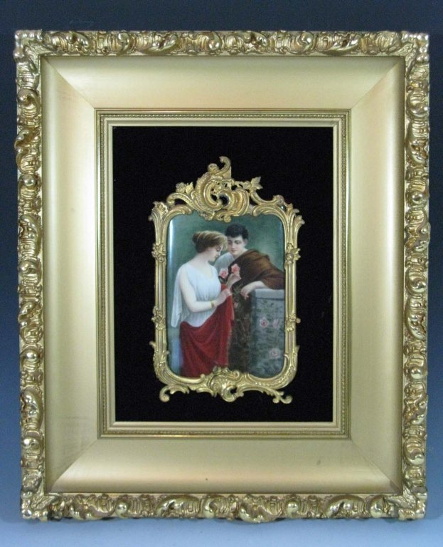 HUTSCHENREUTHER SIGNED PORCELAIN PLAQUE BY WAGNER