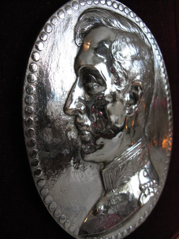 CHARLES PONNET 1916 SILVERED METAL PLAQUE - 5
