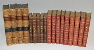FINE BOOK BINDING: TENNYSON, THACKERAY, GOLDSMITH
