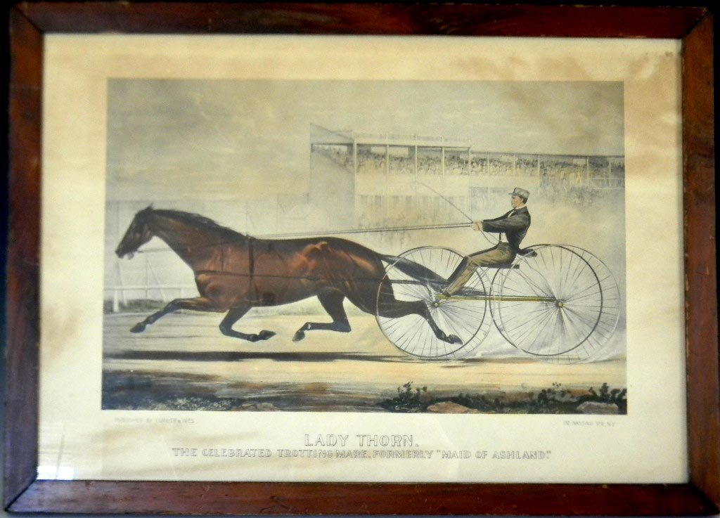 AFTER CURRIER & IVES LITHOGRAPH LADY THORN