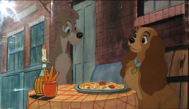 1955 LADY AND THE TRAMP PRODUCTION CEL BELLA NOTTE - 2