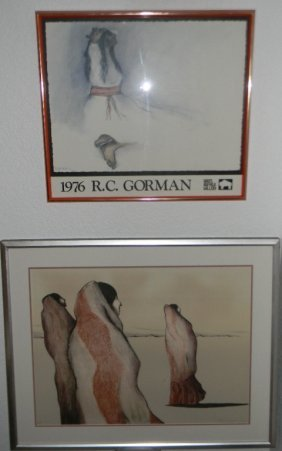 2 @ Rc Gorman Hand-signed Ap Litho Waiting Women