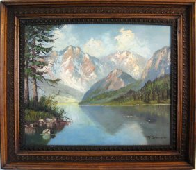 T Schneider American Landscape Oil Painting