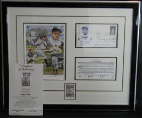 Babe Ruth Signed Ltd Ed Commemorative Picture