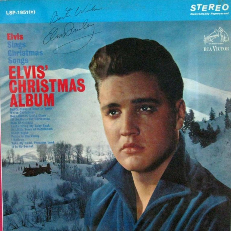 ELVIS PRESLEY SIGNED ALBUM WITH RECORD - 2