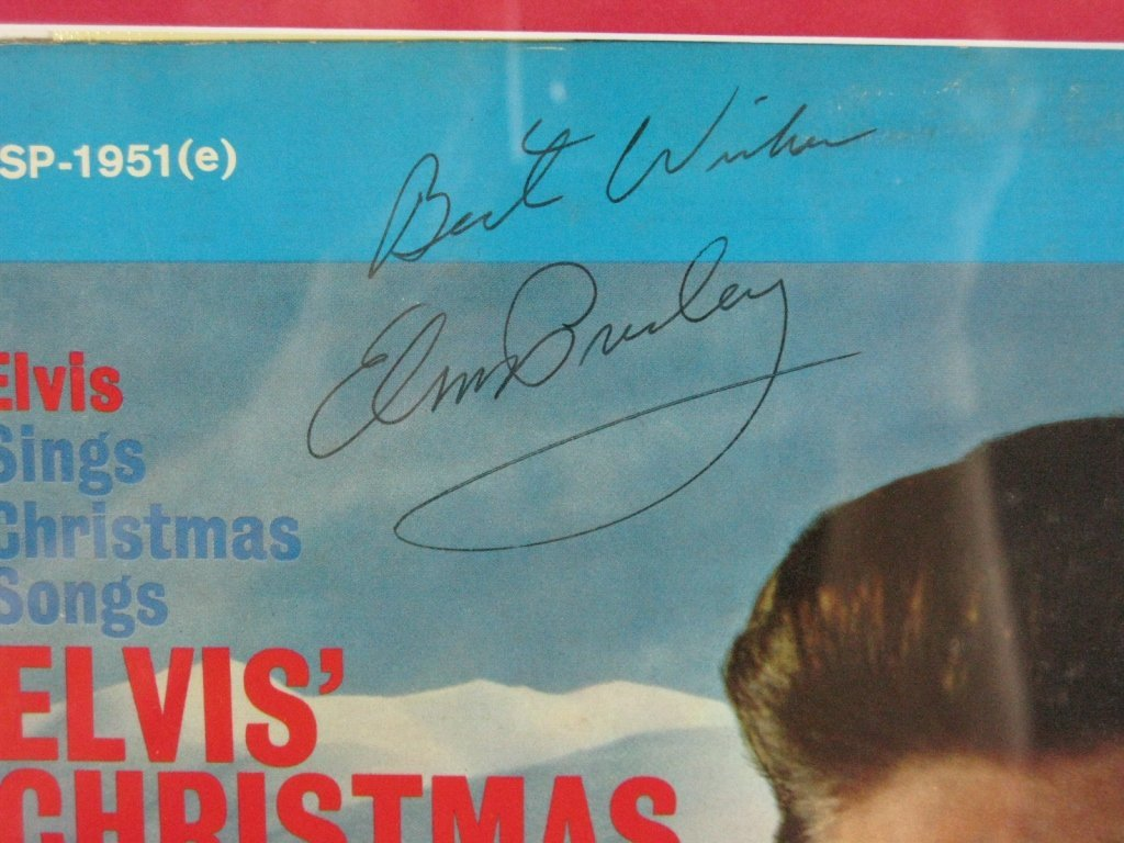 ELVIS PRESLEY SIGNED ALBUM WITH RECORD - 3