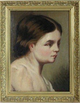 Ogiez Signed Oil On Board Portrait 1880