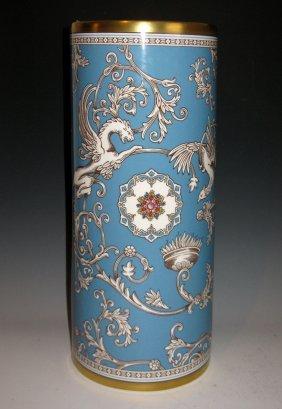 """Wedgwood Porcelain Florentine Turquoise Vase 15"""""""