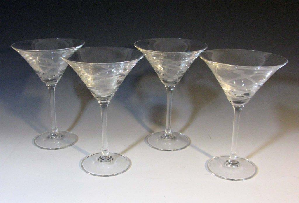 4 @ VERA WANG WEDGWOOD MARTINI GLASSES