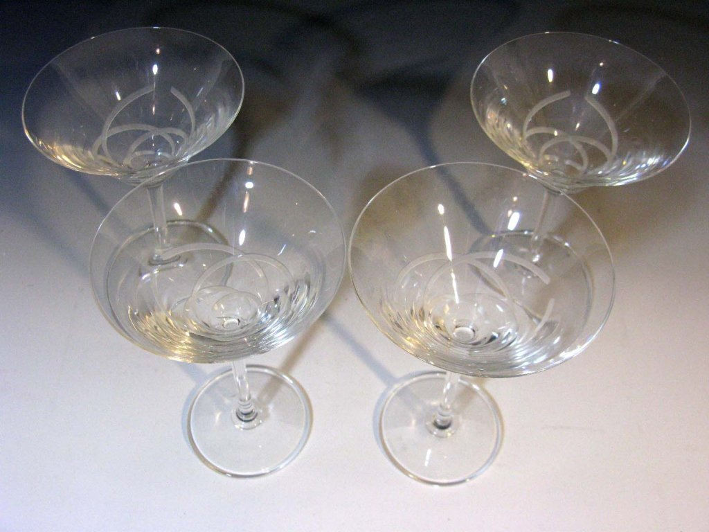 4 @ VERA WANG WEDGWOOD MARTINI GLASSES - 2