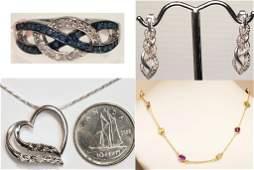 STERLING SILVER, DIAMOND & GEMSTONES JEWLERY COLLECTION