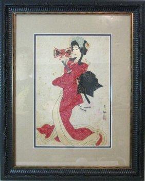Natori Shunsen Japanese Kabuki Woodblock Print