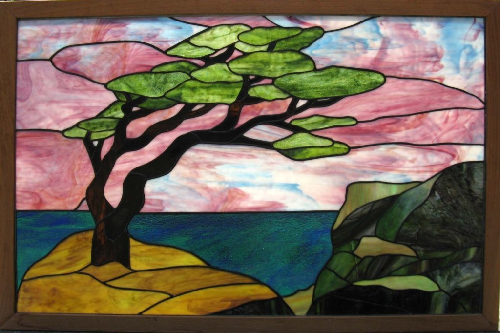 STAINED GLASS PANEL MONTEREY BAY CALIFORNIA