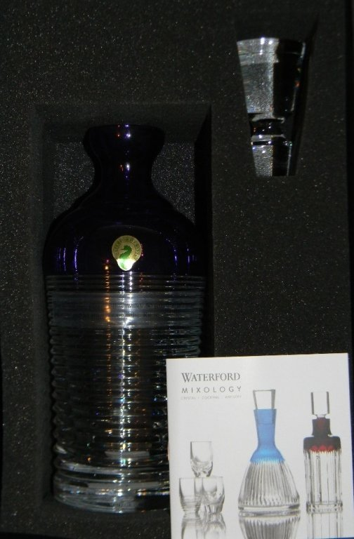 WATERFORD CRYSTAL MIXOLOGY CIRCON PURPLE DECANTER - 3