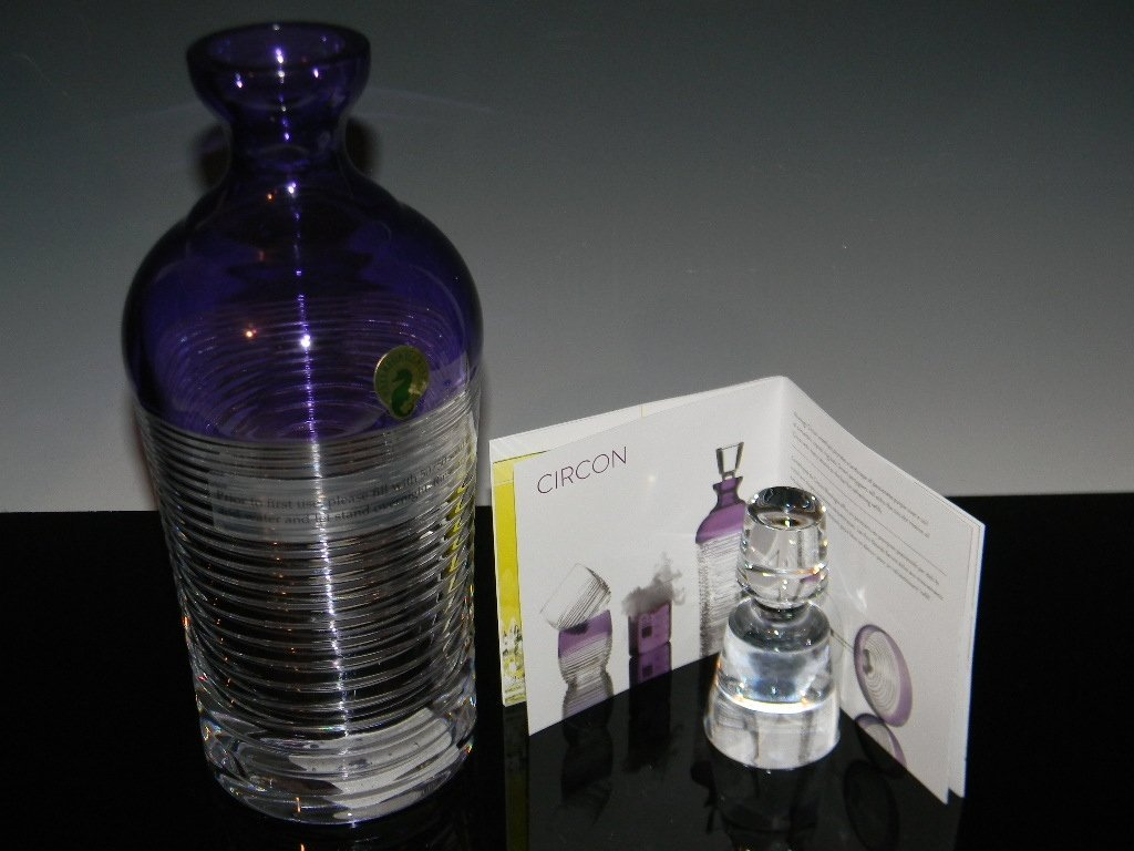 WATERFORD CRYSTAL MIXOLOGY CIRCON PURPLE DECANTER - 4