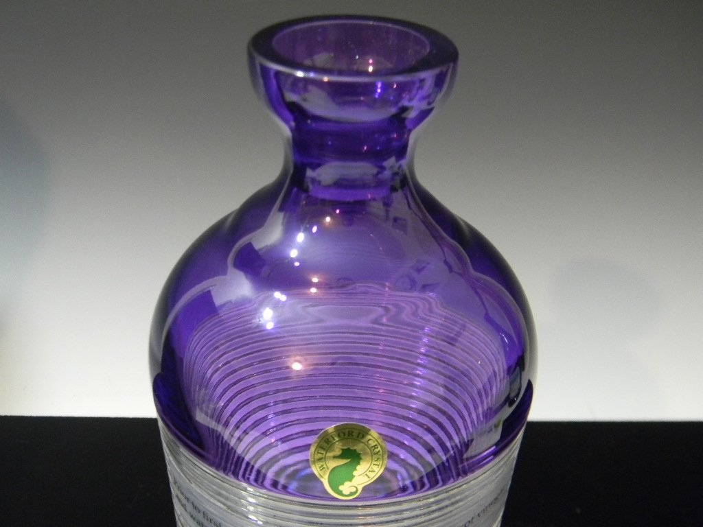WATERFORD CRYSTAL MIXOLOGY CIRCON PURPLE DECANTER - 5