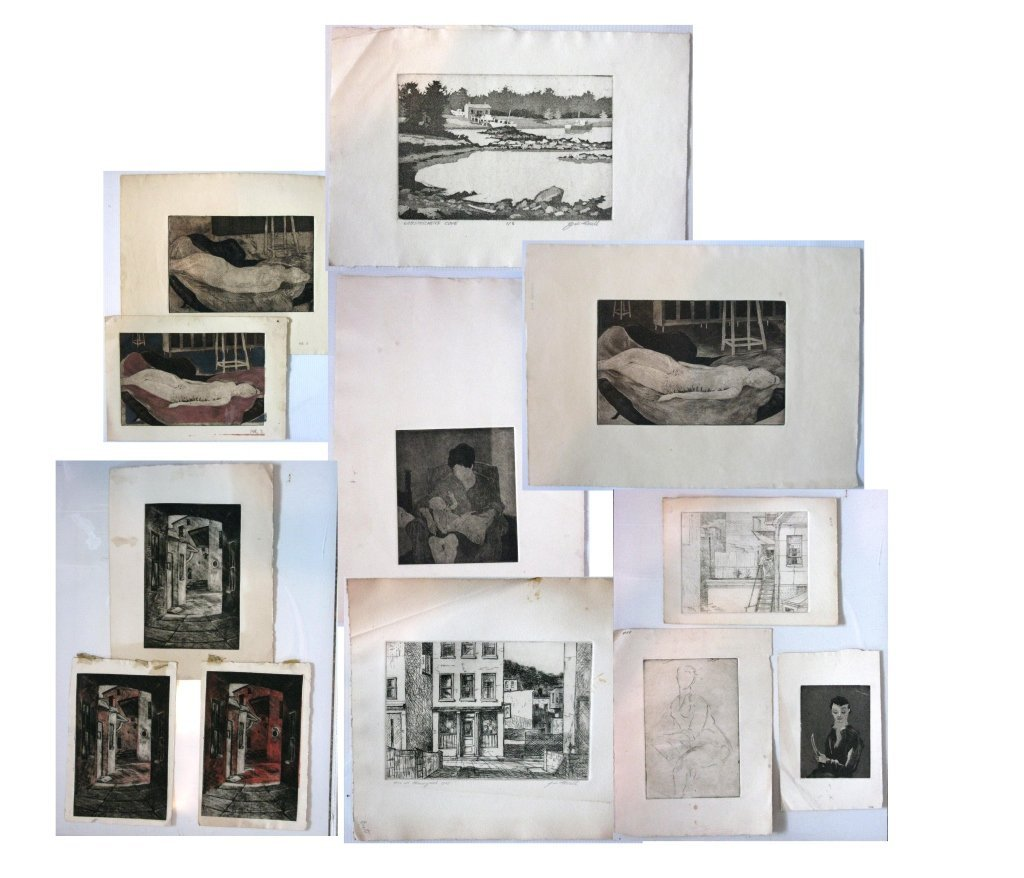 12 @ JAMES T FERREL NEUMASTIC ARTIST ETCHINGS