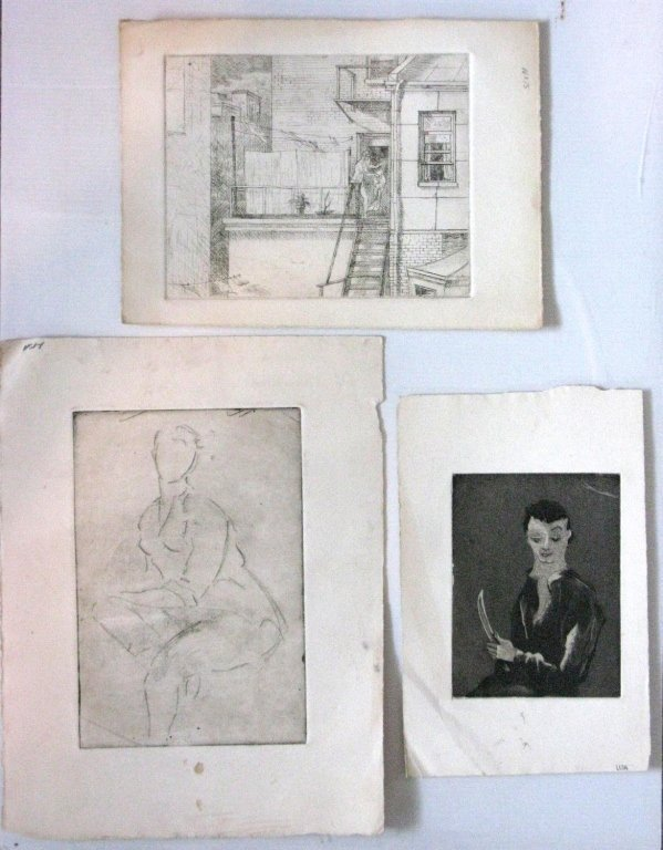 12 @ JAMES T FERREL NEUMASTIC ARTIST ETCHINGS - 2