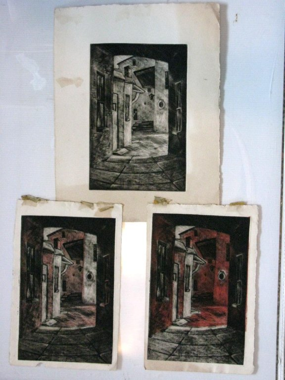 12 @ JAMES T FERREL NEUMASTIC ARTIST ETCHINGS - 3